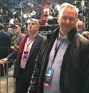 Schmidt spotted at Hillary Clinton election night victory party