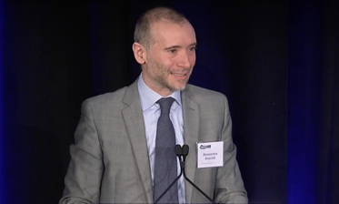 Alessandro Acquisti, who shared a $400,000 grant from Google, speaking at PrivacyCon