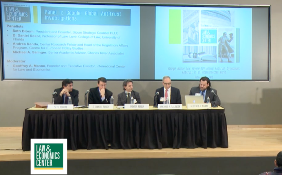 All-but-one participants at a GMU panel on global Google antitrust investigations had financial ties to the company