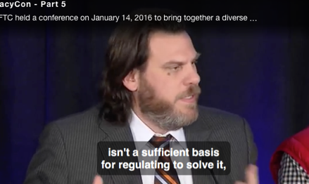 Google-funded Geoffrey Manne argued forcefully against privacy regulation at FTC's conference