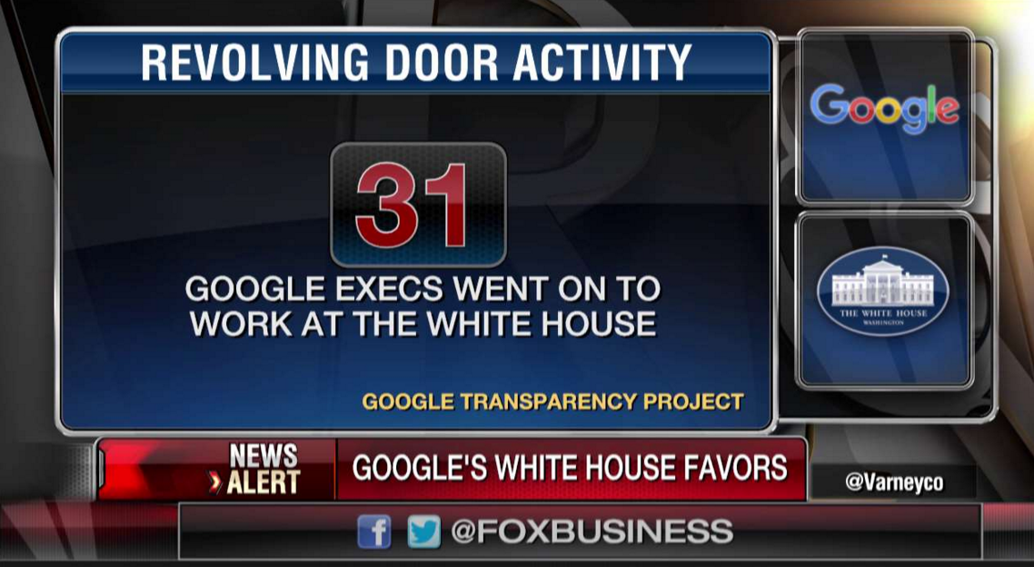 31 Google Execs Work at the White House