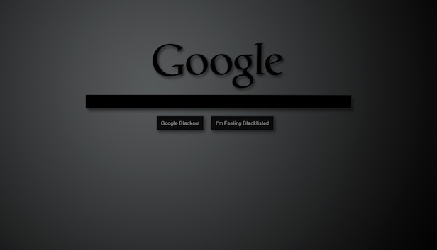 SOPA Google blackout White House