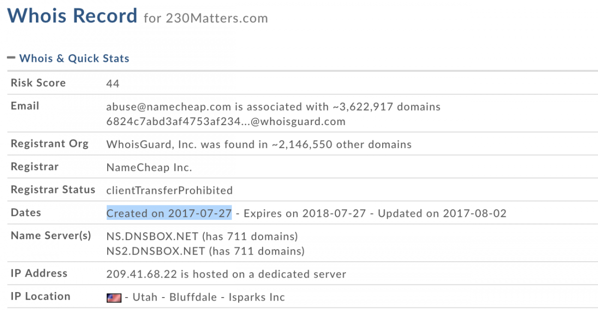 Domain registration records show that even before Portman introduced his bill, nonprofits funded by Google were already girding for battle.