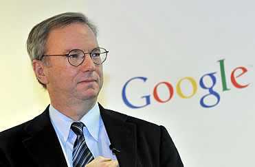 Eric Schmidt, then Google's chief executive, cited a Google-funded author in written answers to Congress to back his contention that his company wasn't a monopoly. He didn't mention Google had paid for the paper.